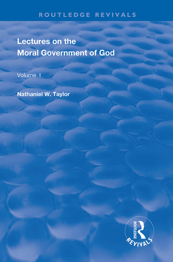 Lectures on the Moral Government of God book cover