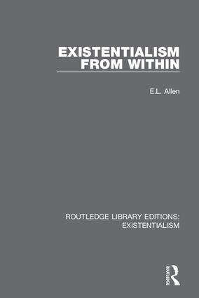 Existentialism from Within book cover
