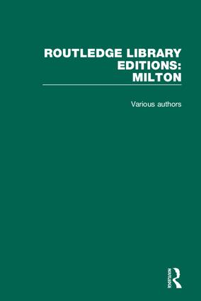 Routledge Library Editions: Milton book cover