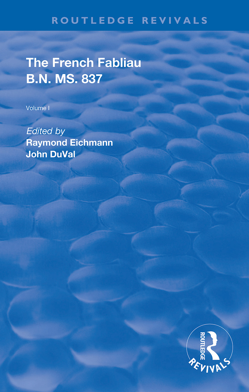 The French Fabliau B.N. MS. 837 book cover