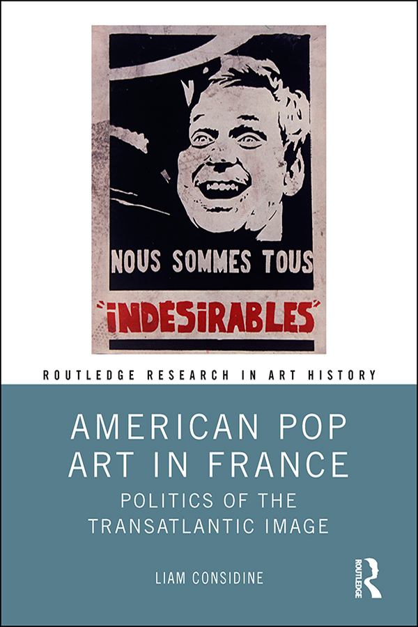 American Pop Art in France: Politics of the Transatlantic Image book cover