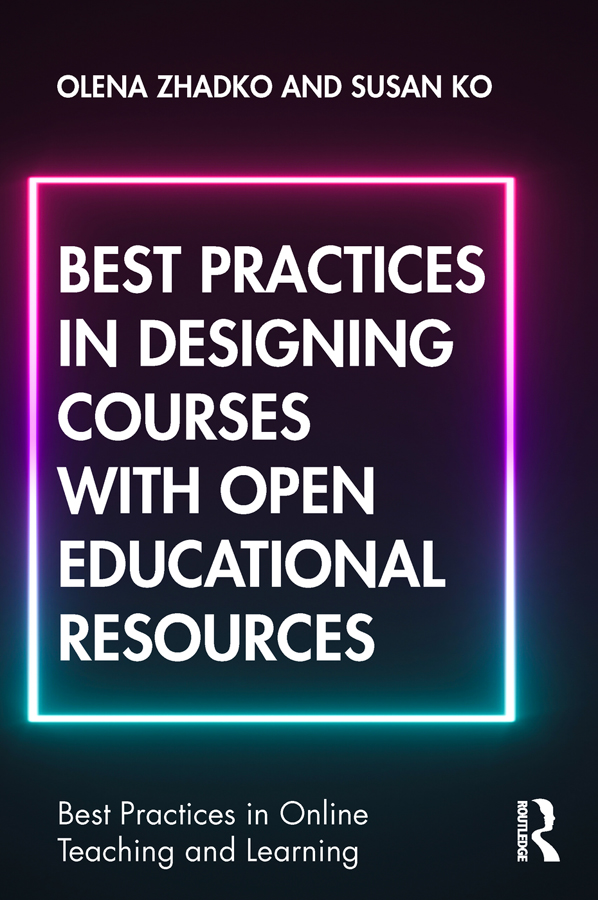 Best Practices in Designing Courses with Open Educational Resources book cover