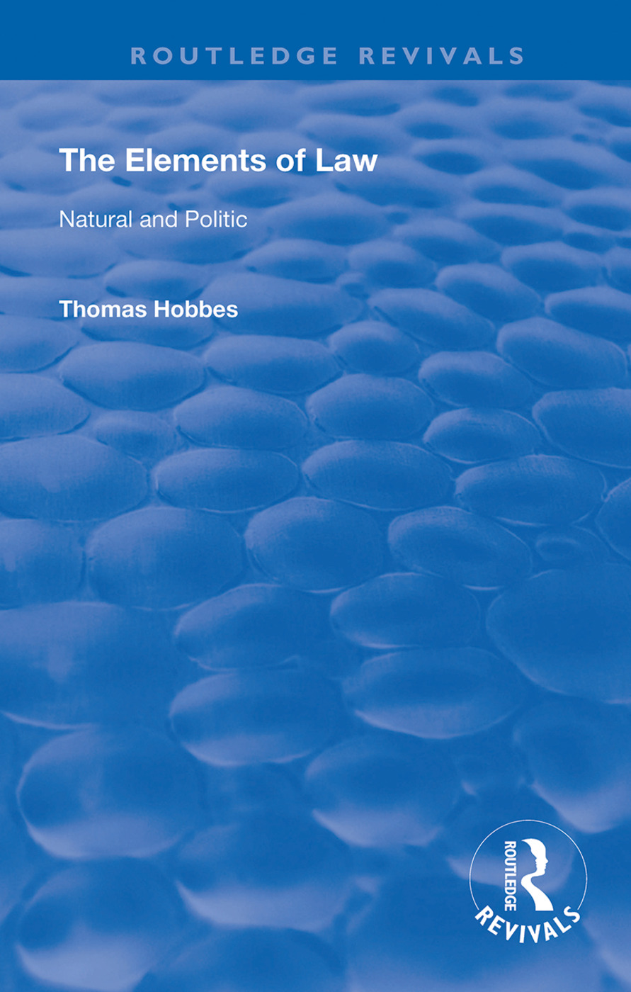 The Elements of Law: Natural and Politic book cover