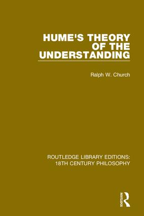 Hume's Theory of the Understanding book cover