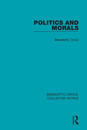 Politics and Morals book cover