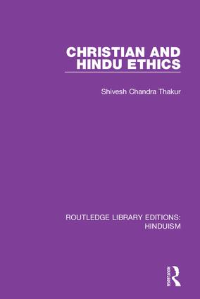 Christian and Hindu Ethics book cover
