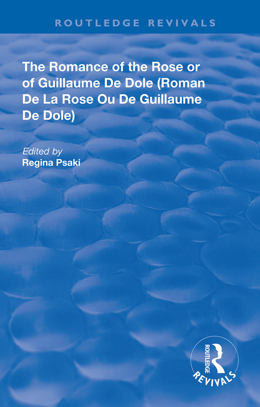 The Romance of the Rose or of Guillaume de Dole book cover