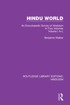 Hindu World: An Encyclopedic Survey of Hinduism. In Two Volumes. Volume I A-L book cover