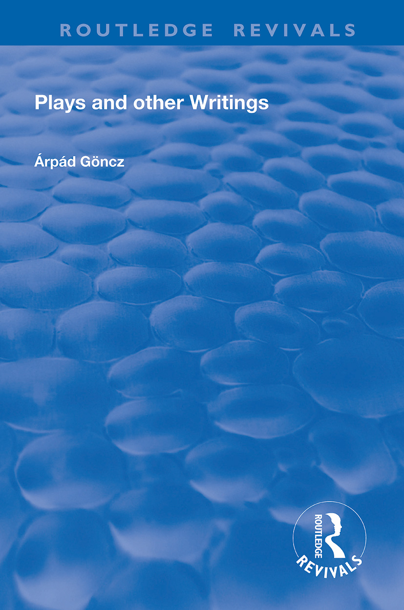 Plays and Other Writings