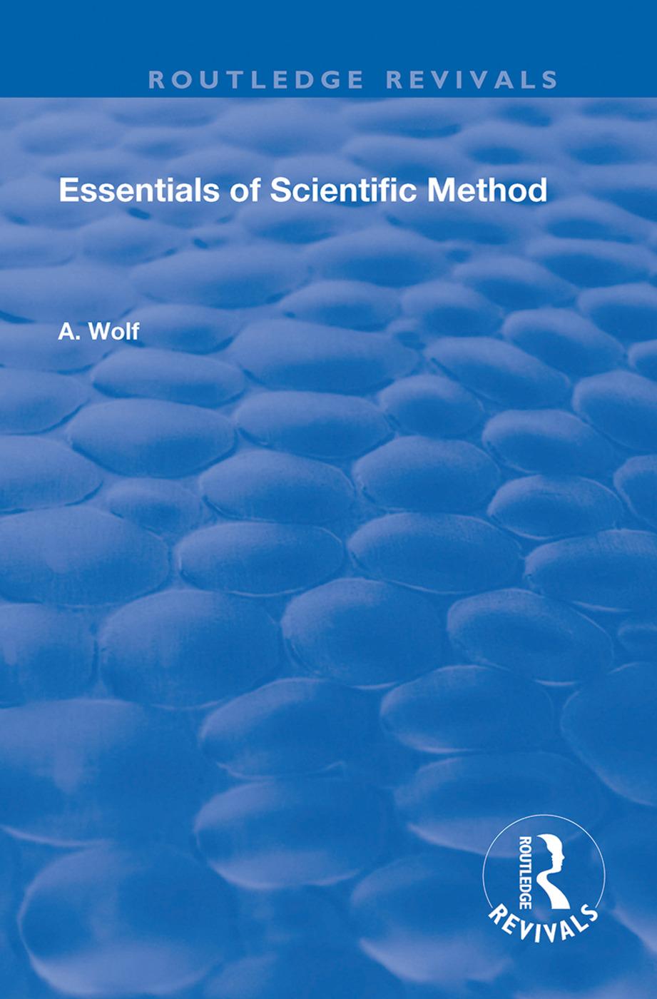 Essentials of Scientific Method: 1st Edition (Hardback) book cover