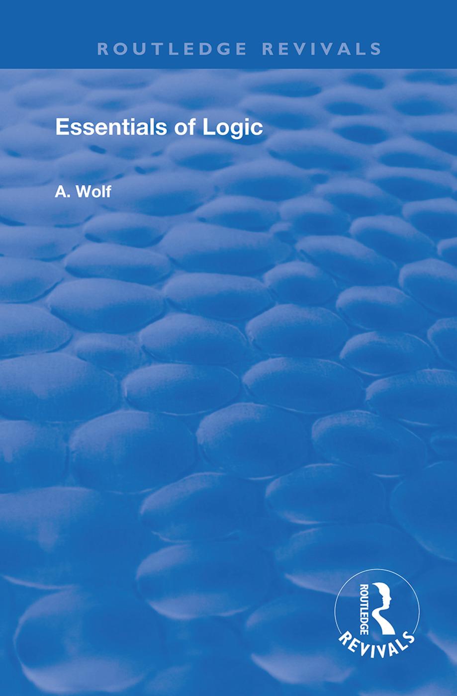 Essentials of Logic book cover