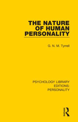 The Nature of Human Personality: 1st Edition (Hardback) book cover