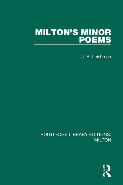 Milton's Minor Poems