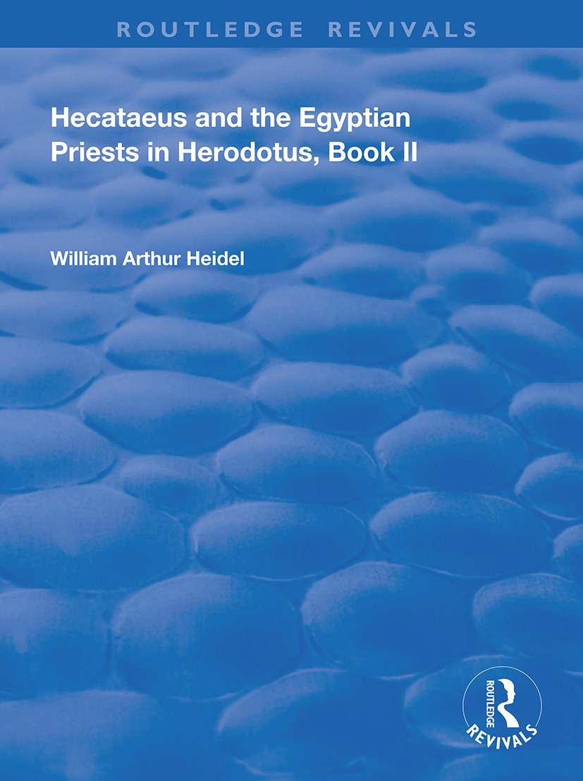 Hecataeus and the Egyptian Priests in Herodotus, Book 2
