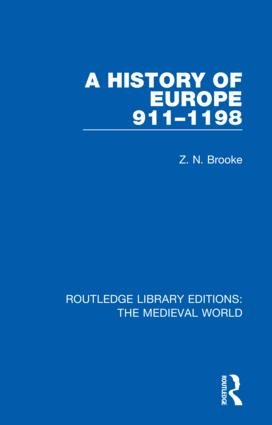 A History of Europe 911-1198 book cover