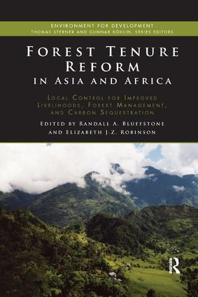 Forest Tenure Reform in Asia and Africa: Local Control for Improved Livelihoods, Forest Management, and Carbon Sequestration book cover