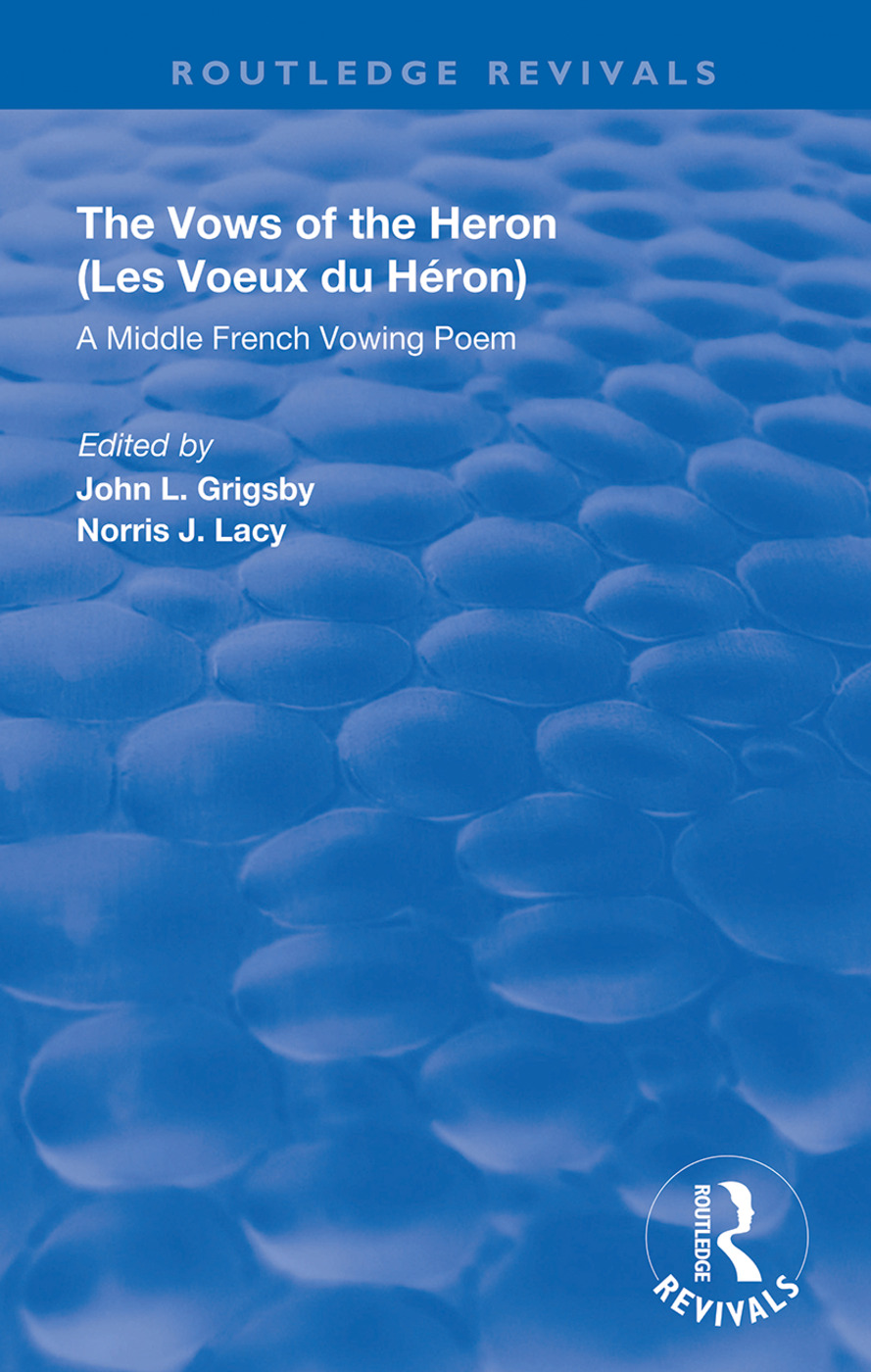 A Middle French Vowing Poem: A Middle French Vowing Poem, 1st Edition (Hardback) book cover