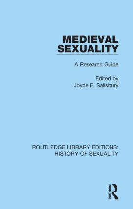 Medieval Sexuality: A Research Guide book cover