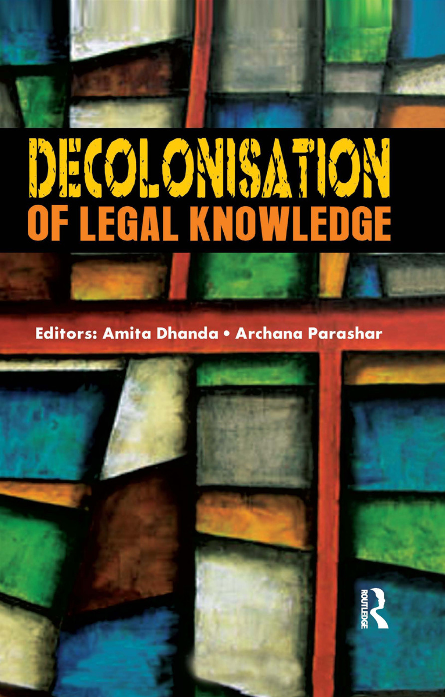 Decolonisation of Legal Knowledge book cover