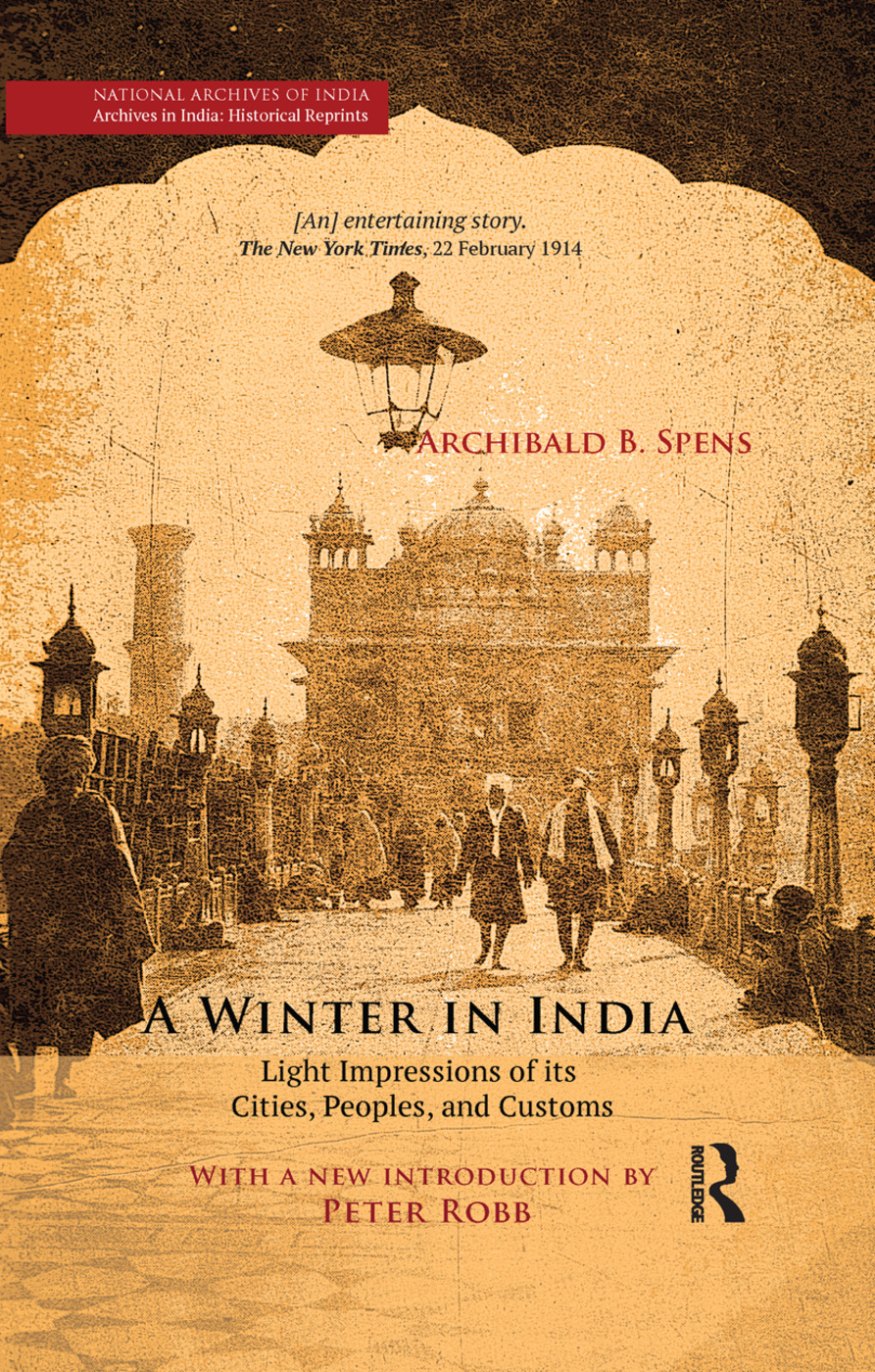 A Winter in India: Light Impressions of its Cities, Peoples and Customs, 1st Edition (Paperback) book cover