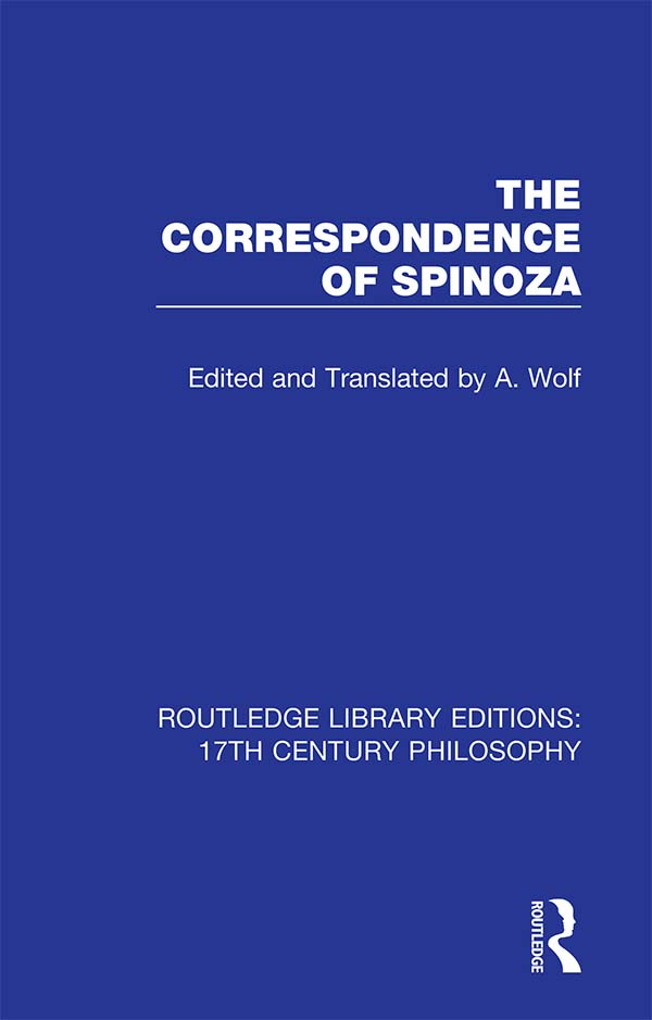 The Correspondence of Spinoza book cover
