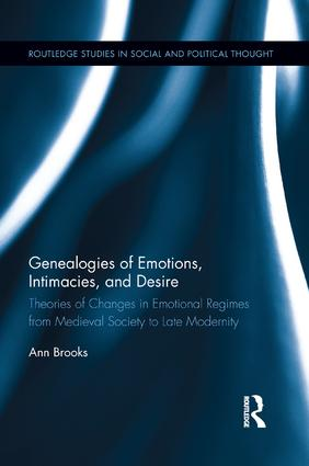 Genealogies of Emotions, Intimacies, and Desire: Theories of Changes in Emotional Regimes from Medieval Society to Late Modernity book cover