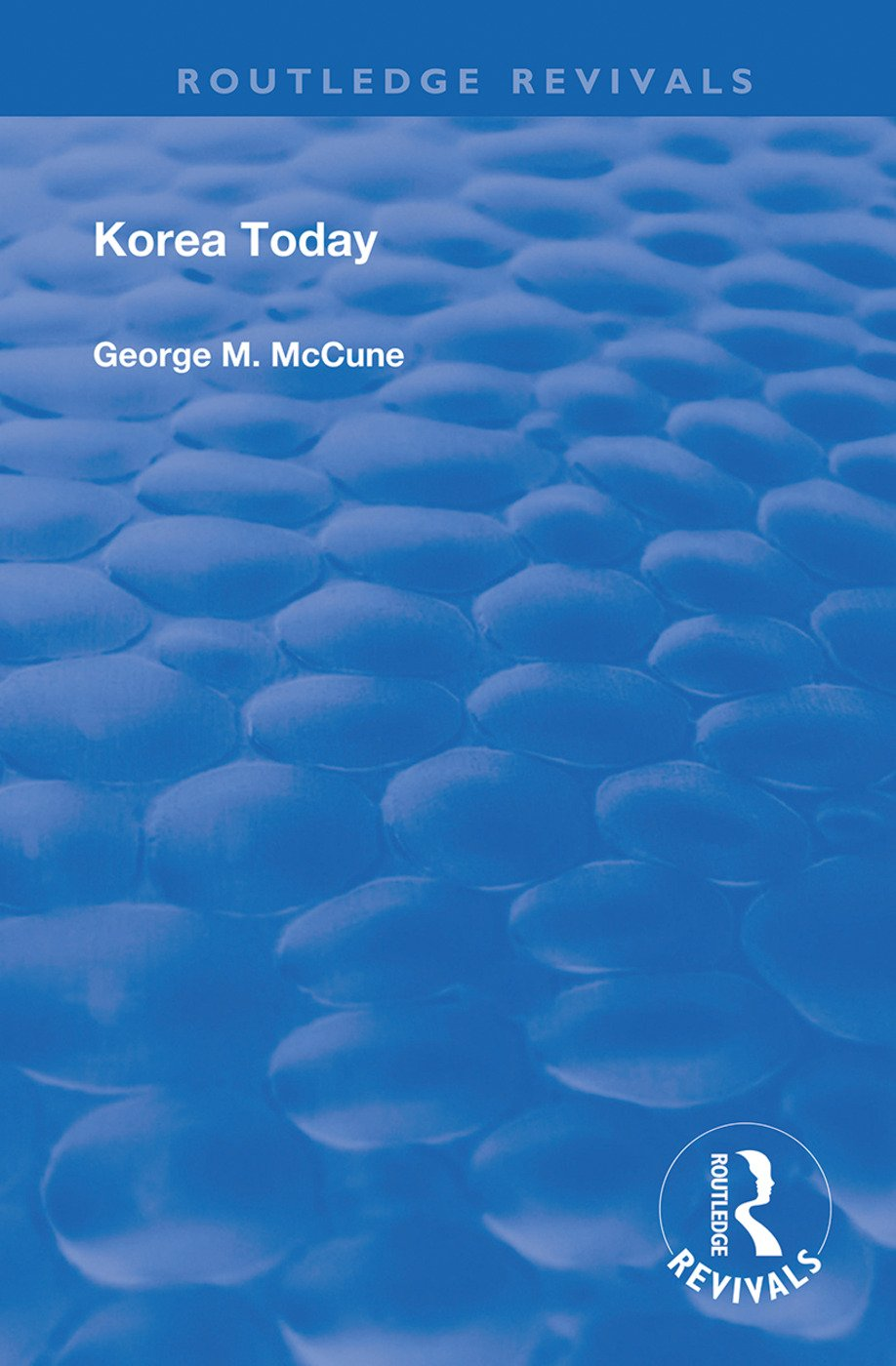 Korea Today: 1st Edition (Hardback) book cover