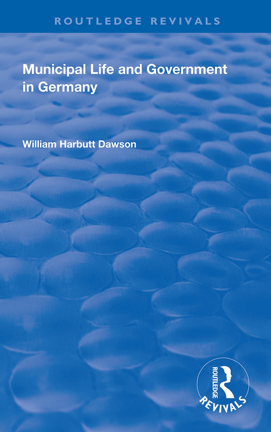 Municipal Life and Government in Germany: 1st Edition (Hardback) book cover