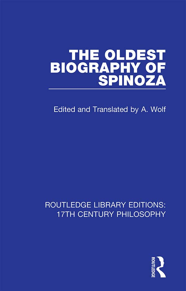 The Oldest Biography of Spinoza book cover
