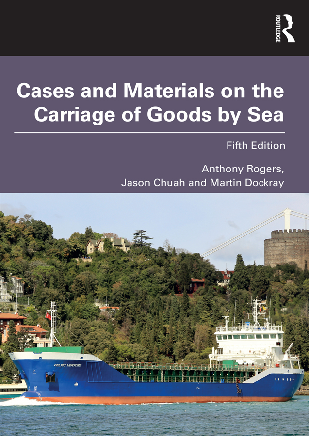 Cases and Materials on the Carriage of Goods by Sea: 5th Edition (Paperback) book cover