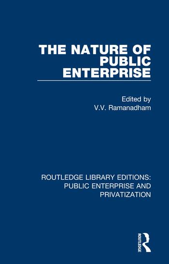The Nature of Public Enterprise