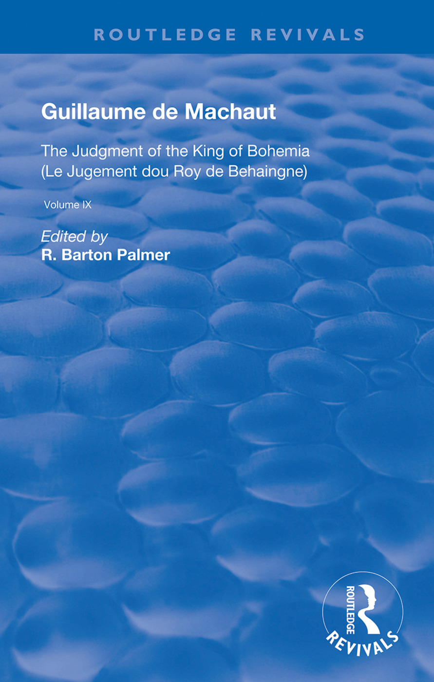 The Judgement of the King of Bohemia: 1st Edition (Hardback) book cover