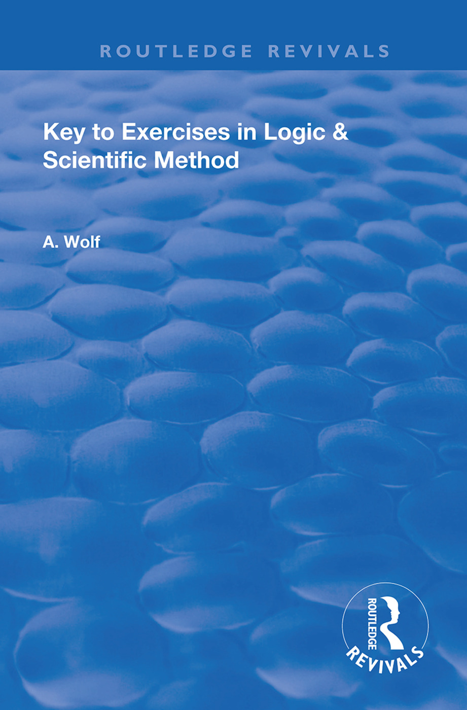 Key to Exercises in Logic and Scientific Method: 1st Edition (e-Book) book cover