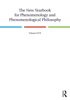 New Yearbook for Phenomenology and Phenomenological Philosophy, Volume 17, 2019 Couverture du livre