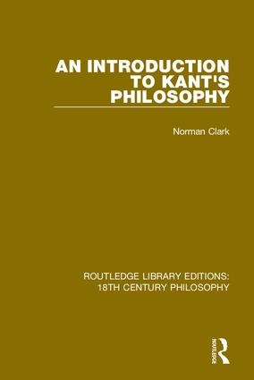 An Introduction to Kant's Philosophy book cover