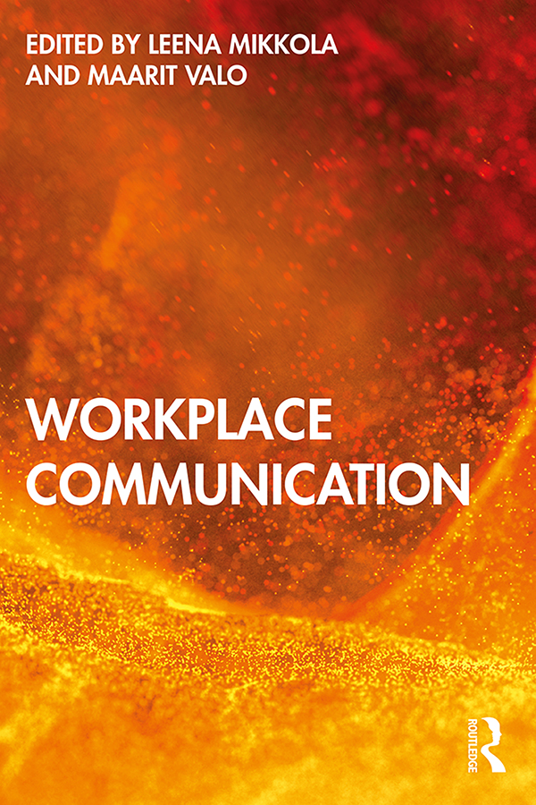 Workplace Communication: 1st Edition (Paperback) book cover