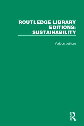 Routledge Library Editions: Sustainability book cover