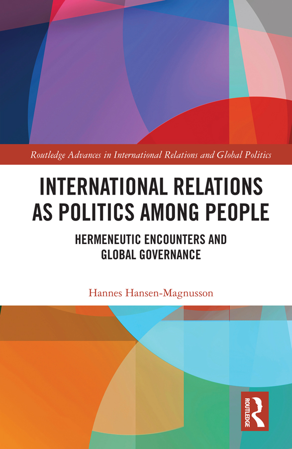 International Relations as Politics among People book cover