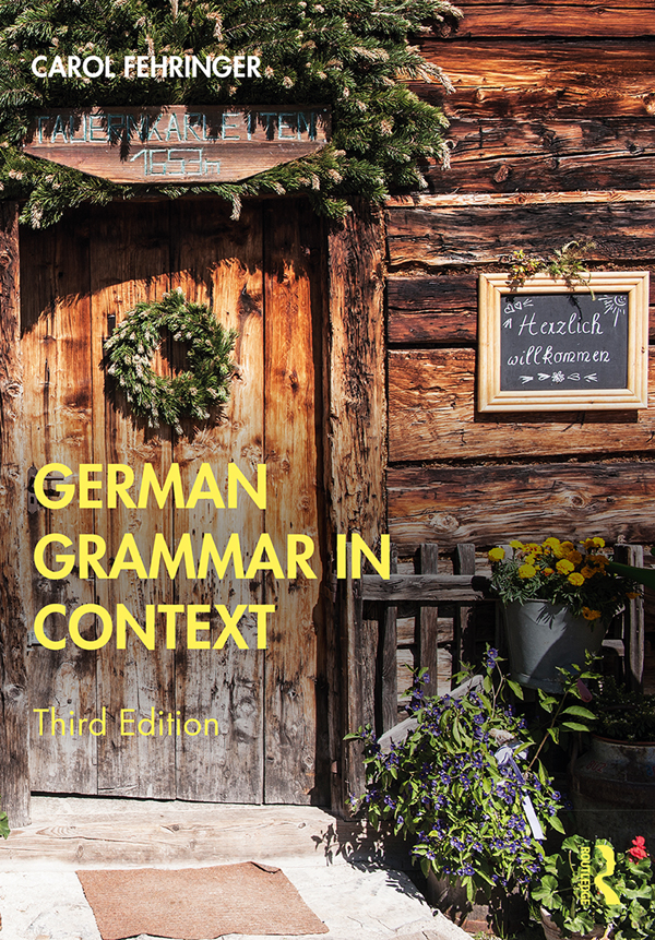 German Grammar in Context book cover