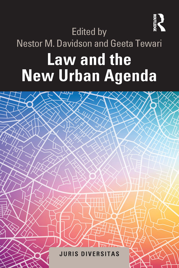 Law and the New Urban Agenda: A Comparative Perspective book cover