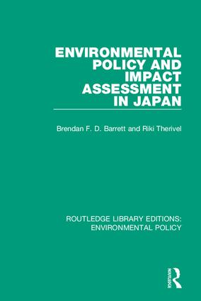 Environmental Policy and Impact Assessment in Japan book cover