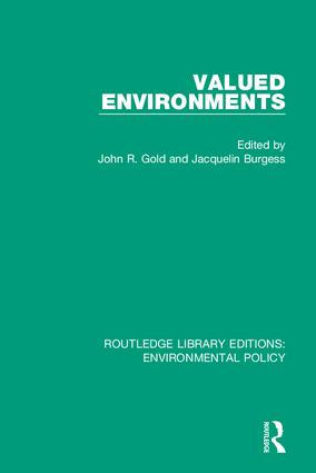 Valued Environments: 1st Edition (Hardback) book cover