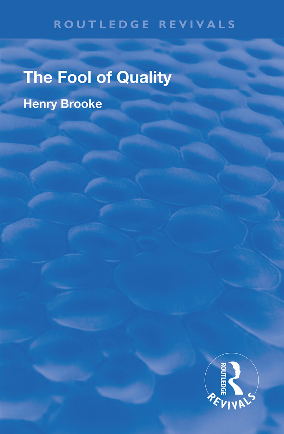 The Fool of Quality: Volume 1 book cover