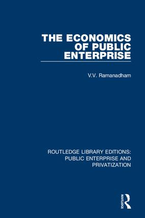 The Economics of Public Enterprise: 1st Edition (Hardback) book cover