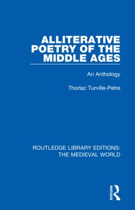 Alliterative Poetry of the Later Middle Ages: An Anthology, 1st Edition (Hardback) book cover