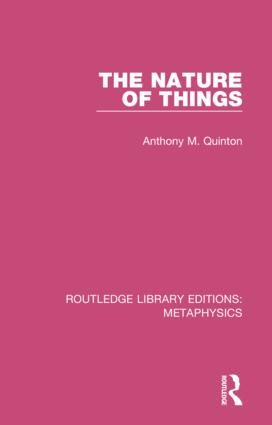 The Nature of Things: 1st Edition (Hardback) book cover