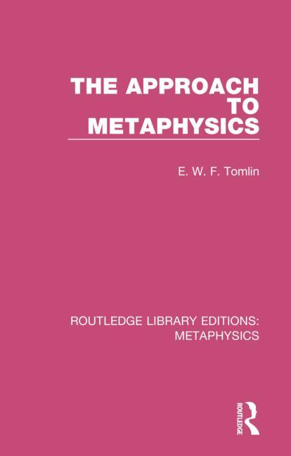 The Approach to Metaphysics book cover