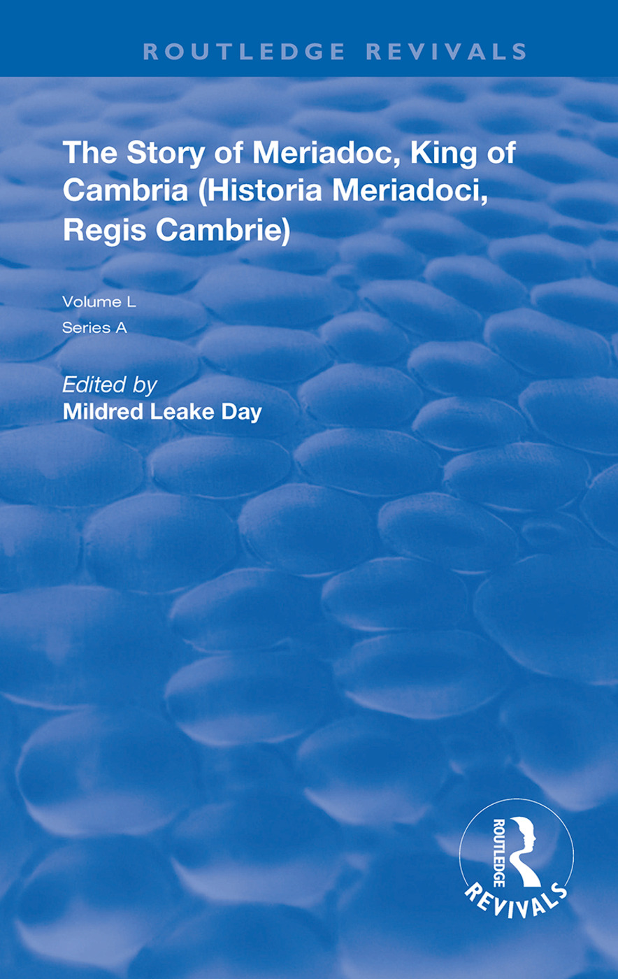 The Story of Meriadoc, King of Cambria: 1st Edition (Hardback) book cover