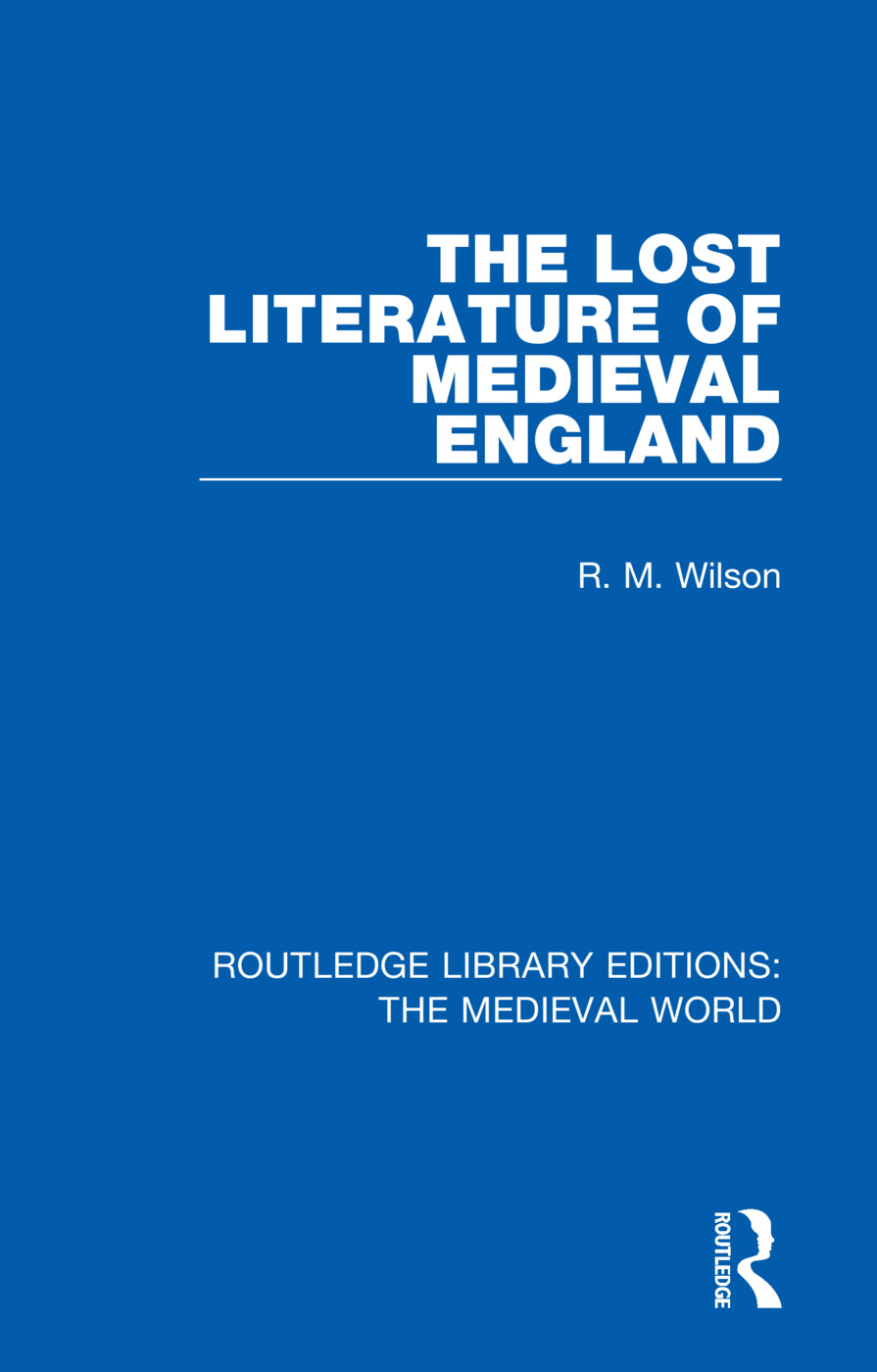 The Lost Literature of Medieval England book cover