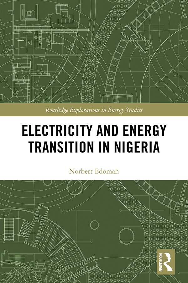 Electricity and Energy Transition in Nigeria book cover